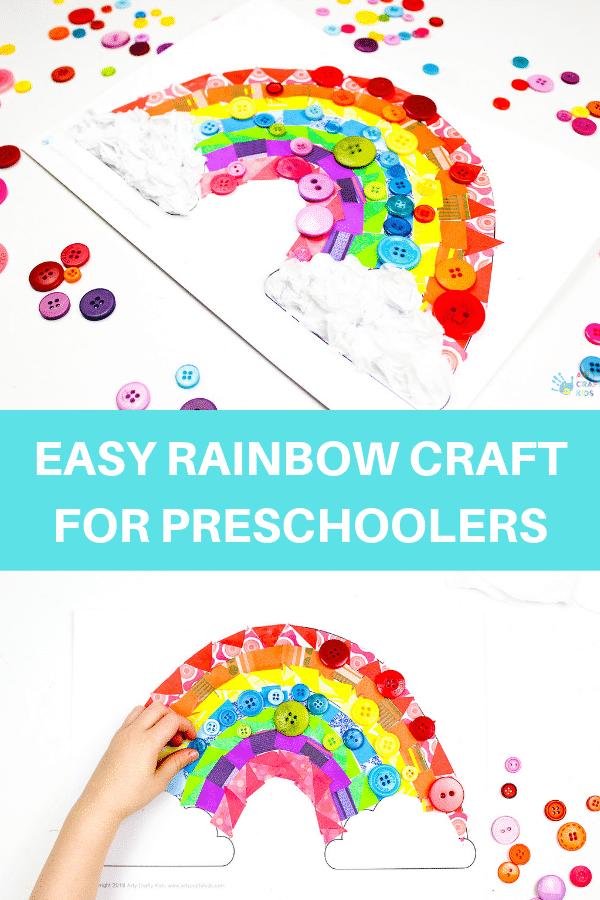 Paper Rainbow Craft For Preschoolers Arty Crafty Kids