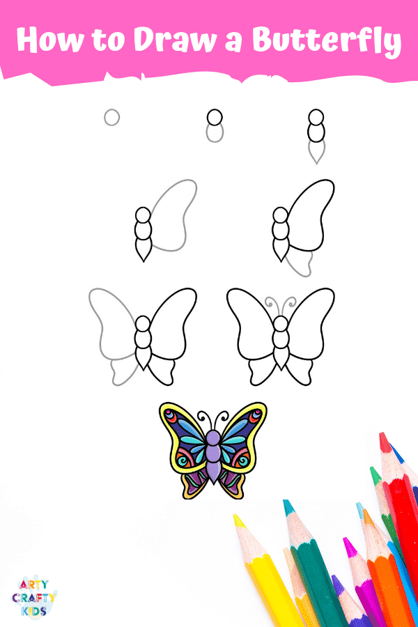 How to Draw a Butterfly - A fun drawing activity for Kids.