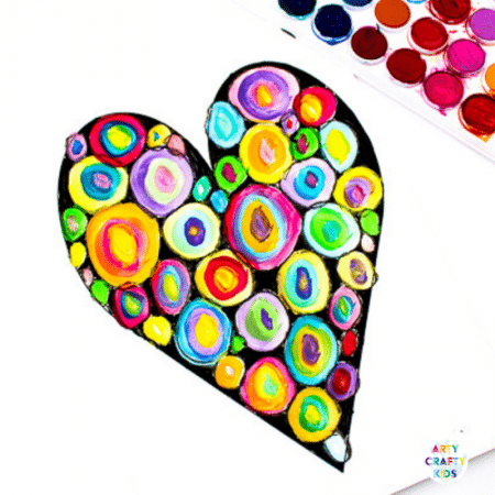 Kandinsky Heart Arts and Crafts for Kids