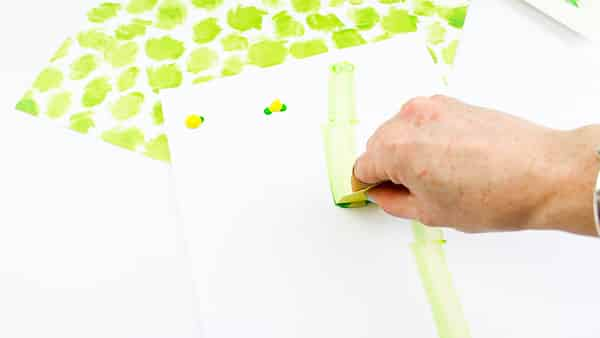 Arty Crafty Kids | Create a bamboo effect using the scrape painting technique. A fun art idea for kids to try.