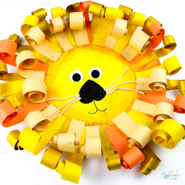 Paper Plate Lion Craft | Arts and Crafts for Kids
