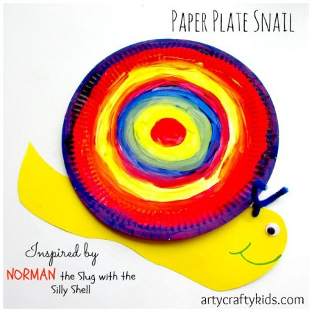 Paper Plate Slug Craft | Arts and Crafts for Kids