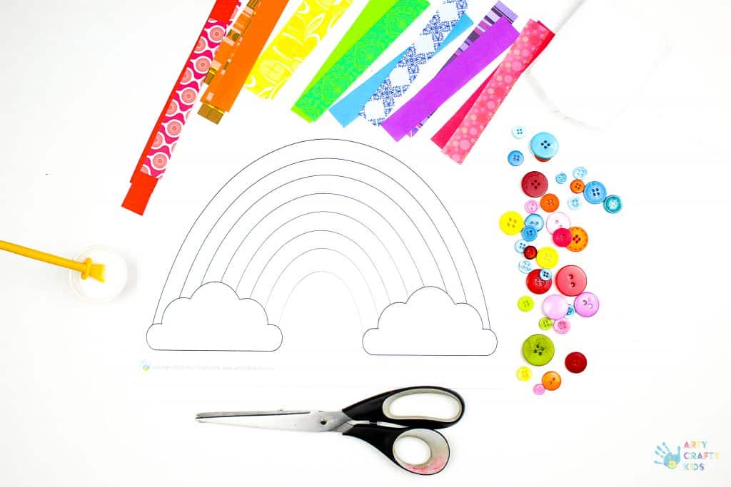 Arty Crafty Kids | Download the printable rainbow template from the Arty Crafty Kids Club.