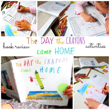 The Day the Crayons Came Home Inspired Craft for Kids
