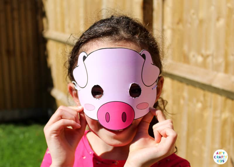 Printable Farm Animal Masks for Kids - Pig Mask for Kids - Animal Craft for Kids