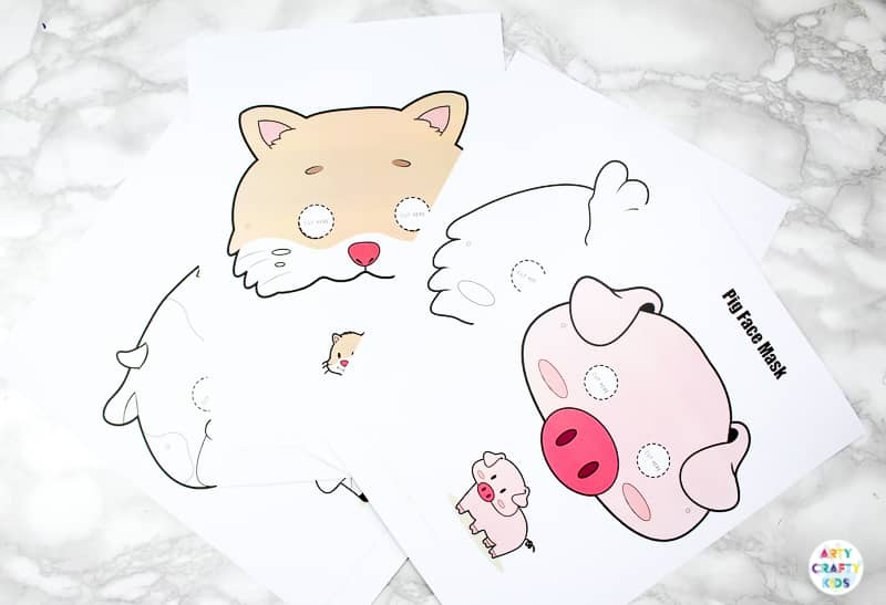 Printable Farm Animal Masks for Kids