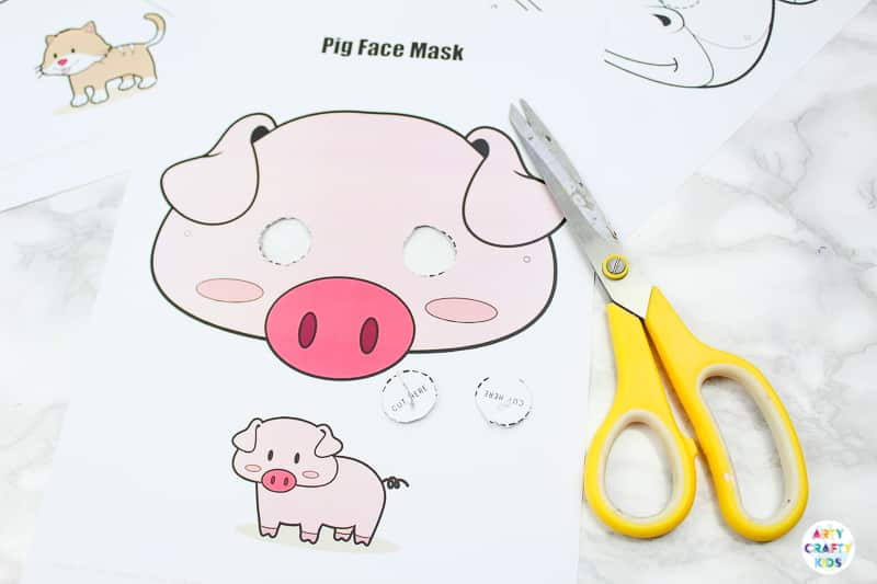 Pig Farm Animal Mask for Kids