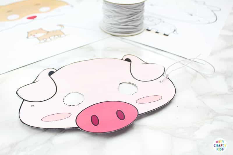 Printable Farm Animal Masks for Kids | Arty Crafty Kids