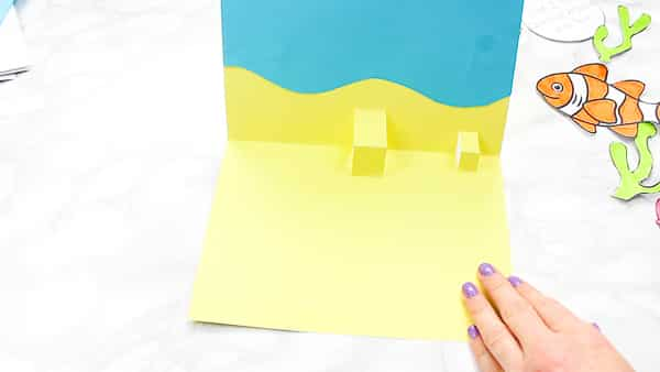 Creating the 3D Pop up feature for the father's day card.
