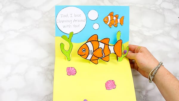 Clown fish Father's Day Pop Up Card for Kids