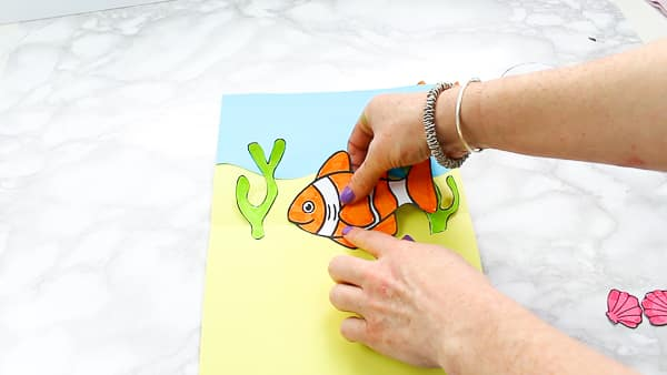 How to make a Clown fish Fathers Day Pop Up Card for Kids