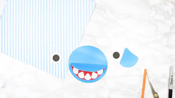 How To Make A Shark Father S Day Card Arty Crafty Kids
