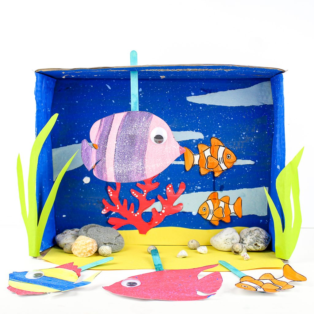 Build an under the sea aquarium with our printable fish templates.