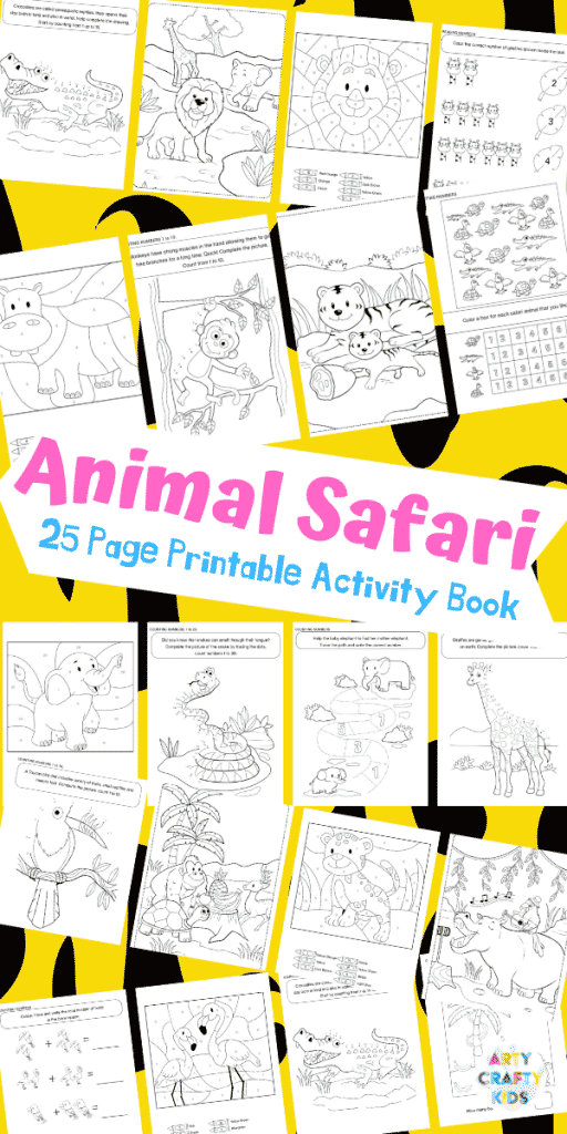 Arty Crafty Kids | 25 Animal Coloring Pages for Kids - Animal printable pages for preschool, kindergarten and primary school #artycraftykids #coloringpages