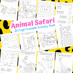 Arty Crafty Kids   25 Animal Coloring Pages for Kids - Animal dot to dot printable pages for preschool, kindergarten and primary school.