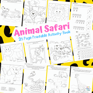 Arty Crafty Kids | 25 Animal Coloring Pages for Kids - Animal dot to dot printable pages for preschool, kindergarten and primary school.