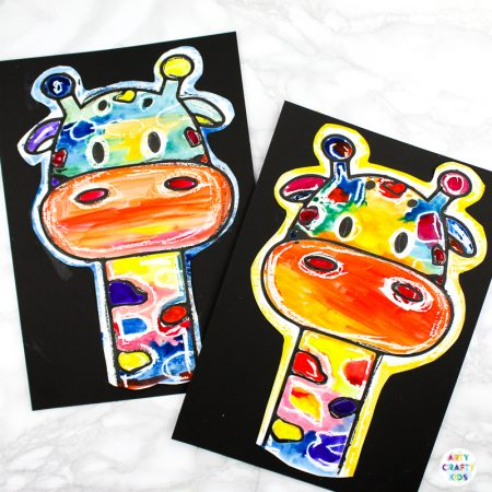 Easy Giraffe Art Idea for Kids