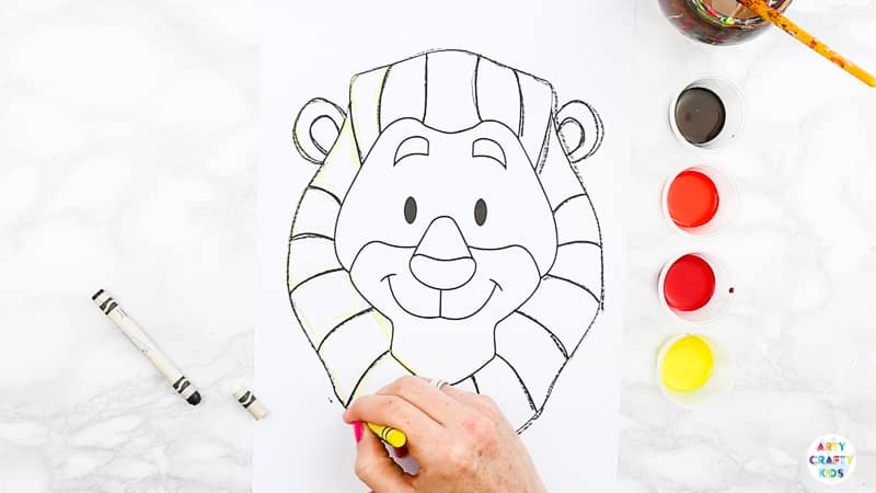 Easy Lion Art Project For Kids Arty Crafty Kids Choose your favorite lion paintings from millions of available designs. easy lion art project for kids arty