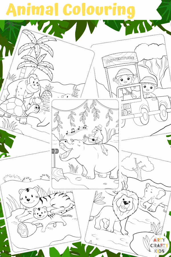 Arty Crafty Kids | 25 Animal Coloring Pages for Kids - Animal coloring printable pages for preschool, kindergarten and primary school.