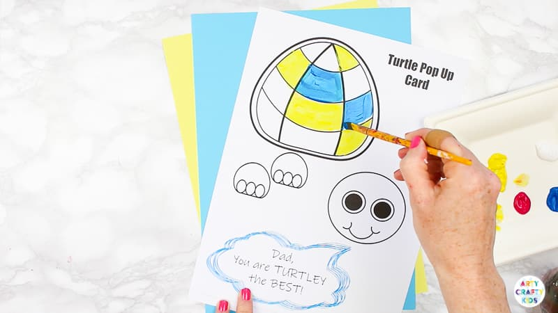 Printable Pop Up Card Turtle Template