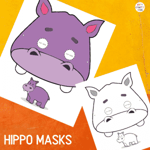 Printable Hippo Masks for Kids