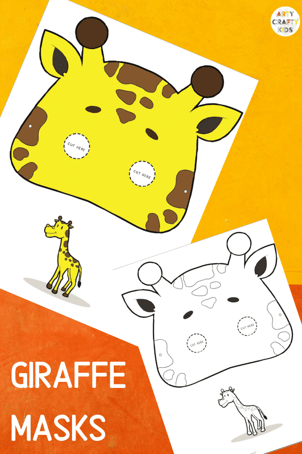 Giraffe Face Masks for Kids to colour and make!