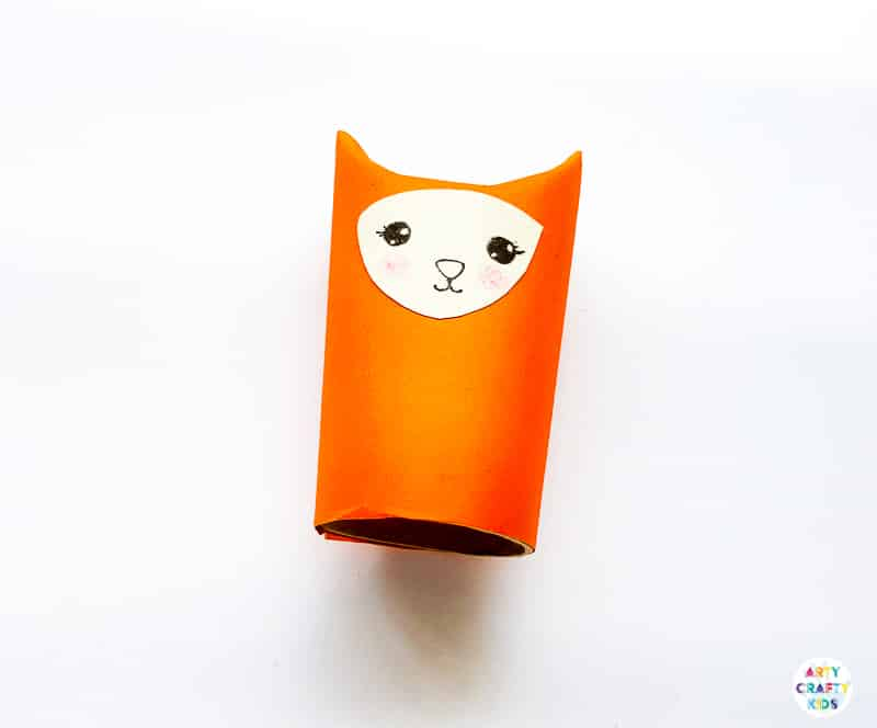 Arty Crafty Kids | Toilet Paper Roll Fox Craft for kids to make this Autumn. Using paper and recycled materials to create the cutest Fox Craft.