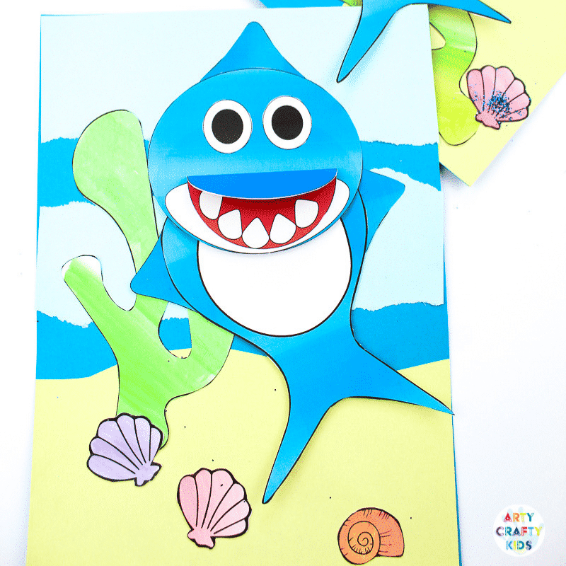Swimming Baby Shark Craft Arty Crafty Kids
