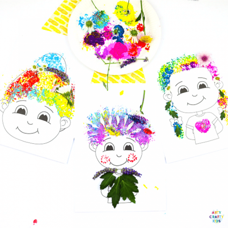 Flower Printing   Nature Craft for Kids