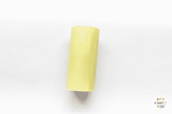 A toilet roll wrapped in paper.