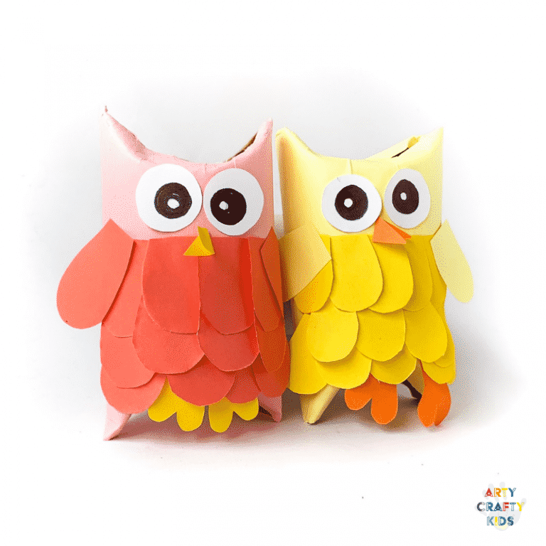 Arty Crafty Kids | Toilet Paper Roll Owls - Easy craft for Kids