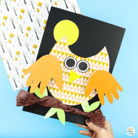 Bobble Handprint Owl Craft
