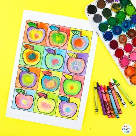 Kandinsky Inspired Apple Art