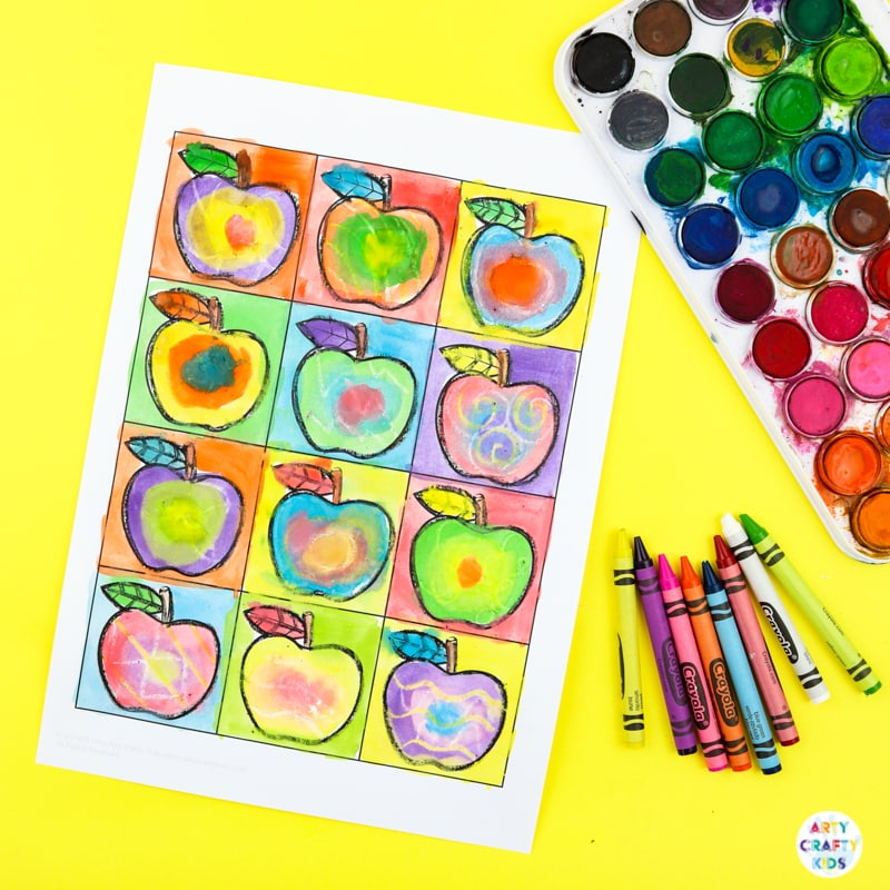 Kandinsky Inspired Apple Art