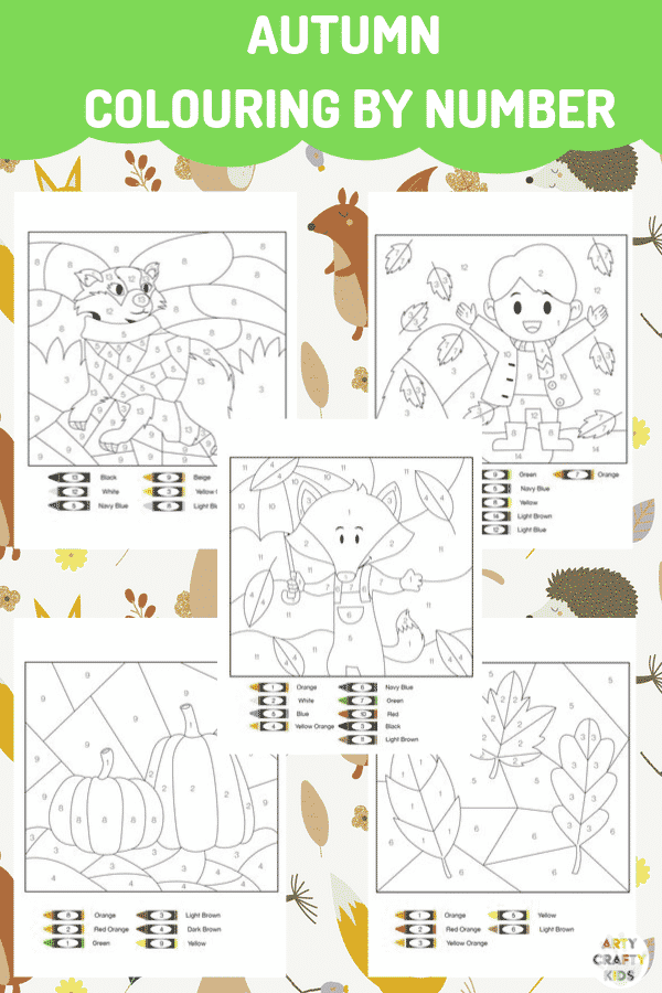 Autumn Activity Book for Kids - A fun collection of fall worksheets that kids will love.