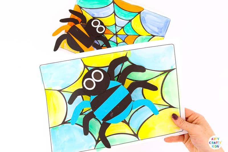 Bobble Halloween Spider Craft for Kids to make. A fun and engaging craft that's great for fine motor skills. The perfect Halloween craft for kids who prefer fun, not spooky.