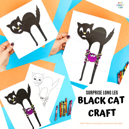 Surprise Black Cat Printable Craft - A fun paper toy for Halloween