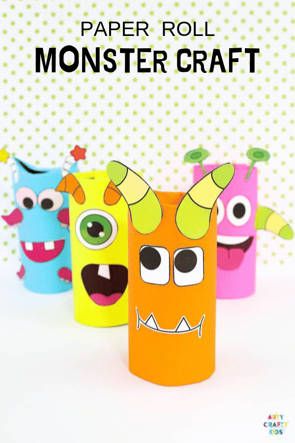 Toilet Paper Roll Monster Craft for Kids. A fun and easy Halloween craft for kids using recycled materials and a printable monster template.