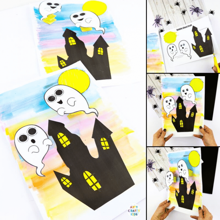 Easy Ghost Craft for Halloween