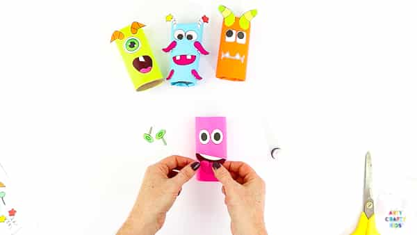 Toilet Paper Roll Monster Craft for Kids. A fun and easy Halloween craft for kids using recycled materials and a printable monster template