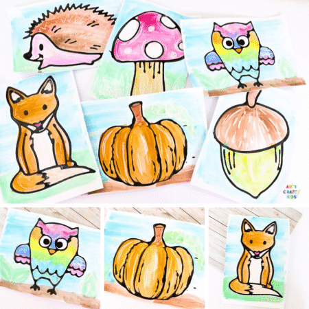 Black Glue Fall Art Projects for Kids
