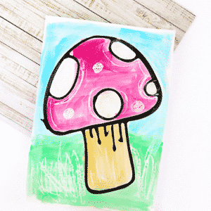 Toadstool Art Project for Kids