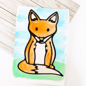 Fox Black Glue Resist Art
