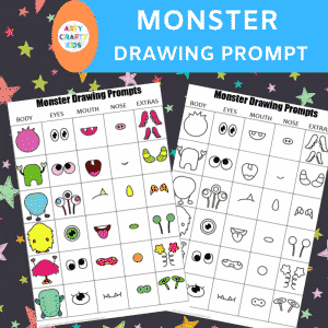 Monster Drawing Prompt for Kids