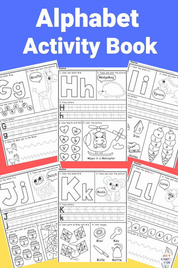 Make learning the alphabet fun with these printable A-Z Alphabet Worksheets; complete with letter tracing, letter coloring and letter activities to keep children engaged! Perfect for preschoolers, kindergarten and early years foundation stage.