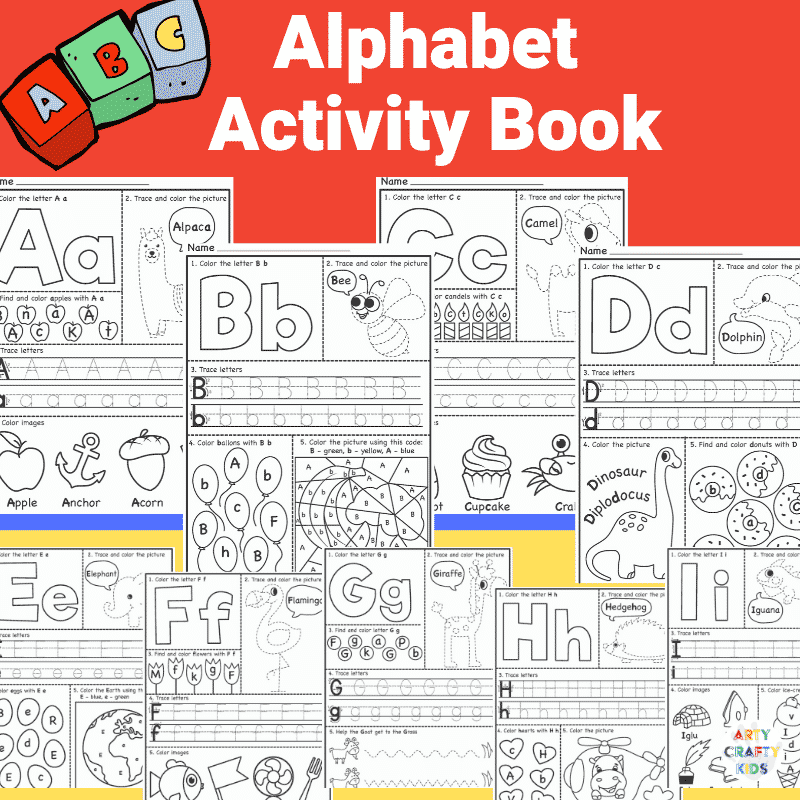 Alphabet Worksheets Arty Crafty Kids