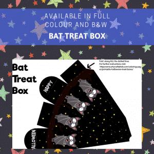 Bat Printable Halloween Treat Box