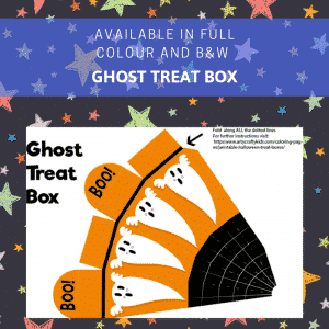 Ghost Printable Halloween Treat Box