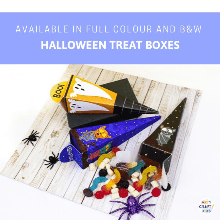 Arty Crafty Kids   Printable Halloween Treat Boxes