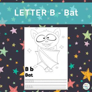 B is for Bat - Halloween Writing Practice for Preschoolers